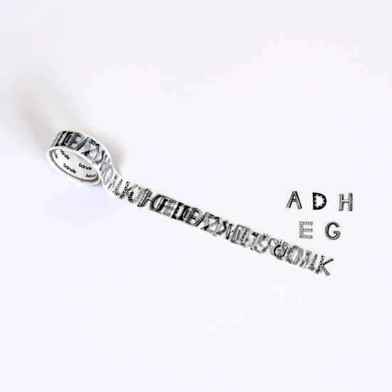 bande 和紙膠帶貼紙 / Petit 英文字母 A-Z (BDA424)