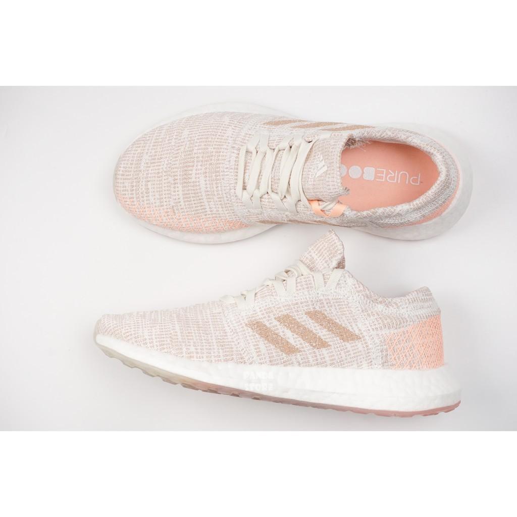 【X】胖達)ADIDAS PUREBOOST GO W 愛迪達 網布 輕量 運動 慢跑鞋 G54519 粉橘 女鞋