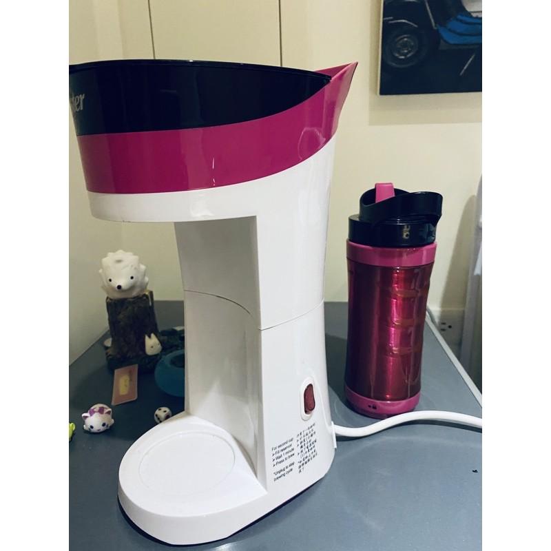 二手品出清-OSTER 隨行杯咖啡機(桃紅色)-(附有桃色隨行杯+蓋)