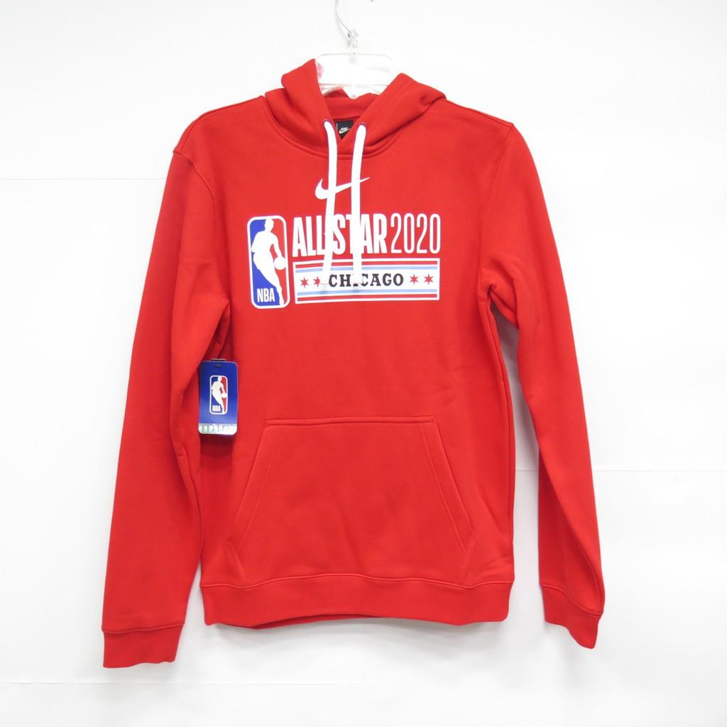 NIKE NBA 經典LOGO 長袖連帽上衣 紅色 CI5447657 OUTLET出清商品