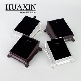 【旺江南】有機玻璃亞克力透明吊墜展示架托盤座黑白雙面項鏈 翡翠掛件展示
