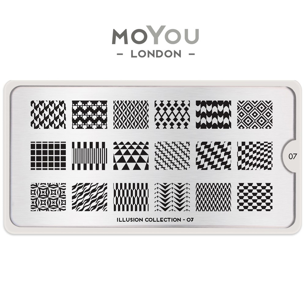 MoYou 指彩印花鋼板 美甲 轉印鋼板 NO157錯覺幻影Illusion07閃爍