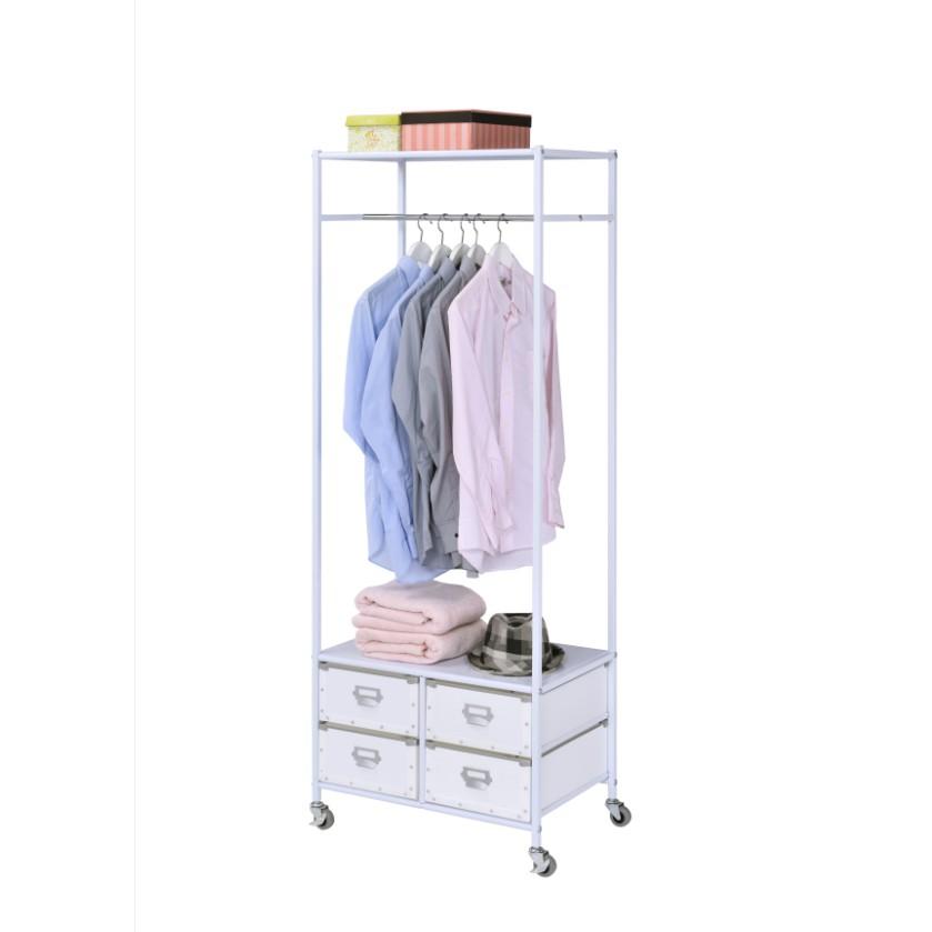 完美主義│都會質感移動式衣櫥(白色) MIT台灣製ac 掛衣架 收納櫃 衣物收納 衣櫃 衣櫥【B0093】