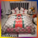 【免運】多款潮牌床包四件組 水晶絨床包 雙人標準/加大床包 LV GUCCI YSL 大牌床包 四件組 床包組