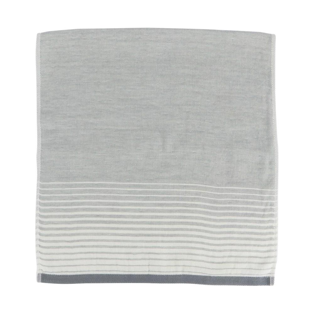 和風無撚紗布漸層方巾 灰 34x35cm
