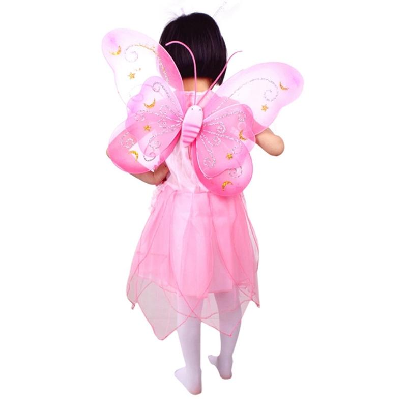 蝴蝶童話天使的翅膀芭蕾舞短裙化裝套裝女孩孩子兒童服裝