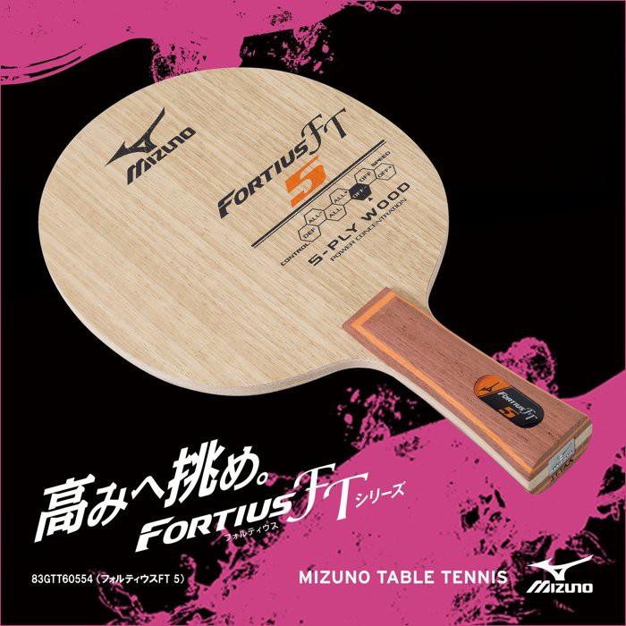 總統桌球(自取可刷國旅卡) 美津濃 桌球拍 Mizuno FORTIUS FT5  5枚合板 FL 負手板