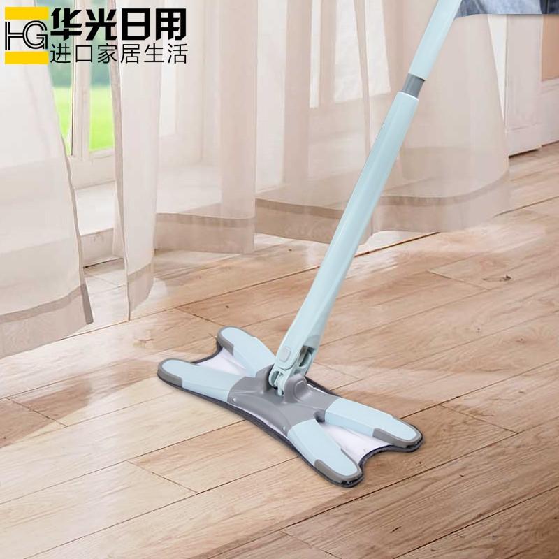 正品家用懶人免手洗拖把仿手擰木地板吸水棉拖布可旋轉平板地拖一拖凈