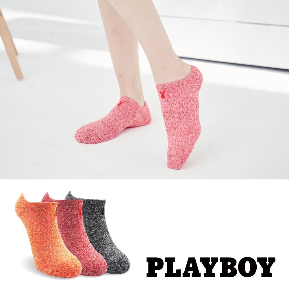 【PLAYBOY】經典兔頭刺繡花紗運動襪│襪子│女襪│短襪│舒適運動│高含棉異味OUT