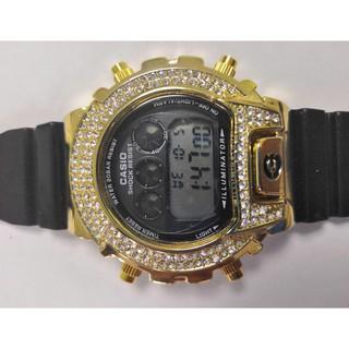 卡西歐G-SHOCK DW6900鑽石手錶運動石英手錶電子表