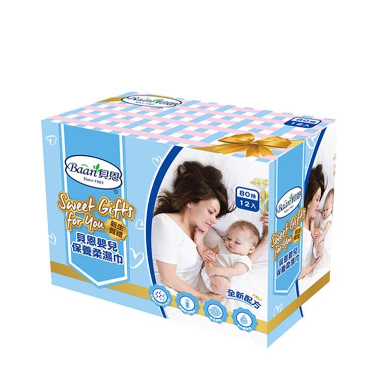 台灣 Baan 貝恩 嬰兒保養柔濕巾80抽(12入)