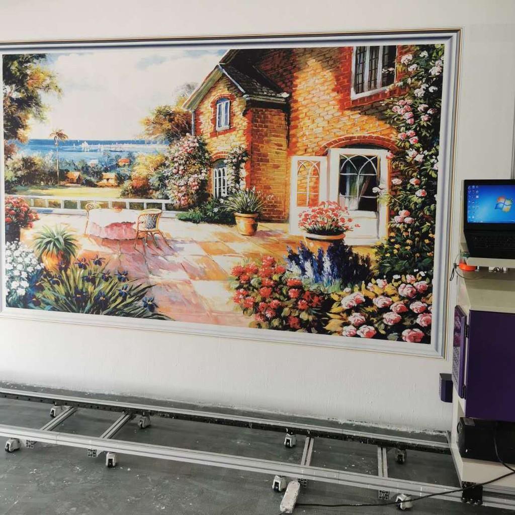 弘彩數碼新農村文化墻立式墻體彩繪機全自動壁畫機廣告打印機噴繪