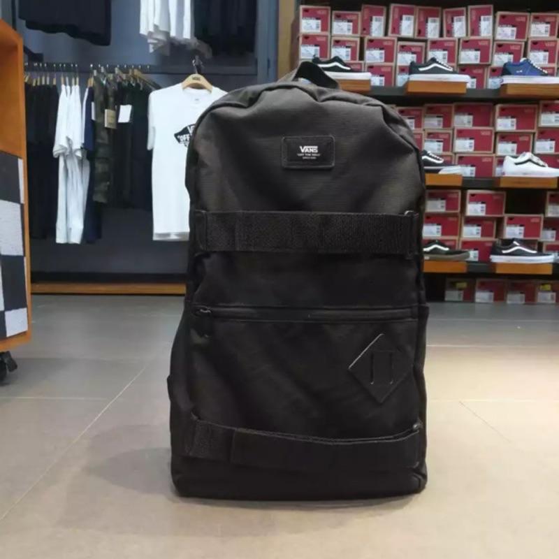 獨家引進Vans 滑板包 HIPHOP 後背包 大容量 旅行包 男 潮流 筆電 運動 黑色