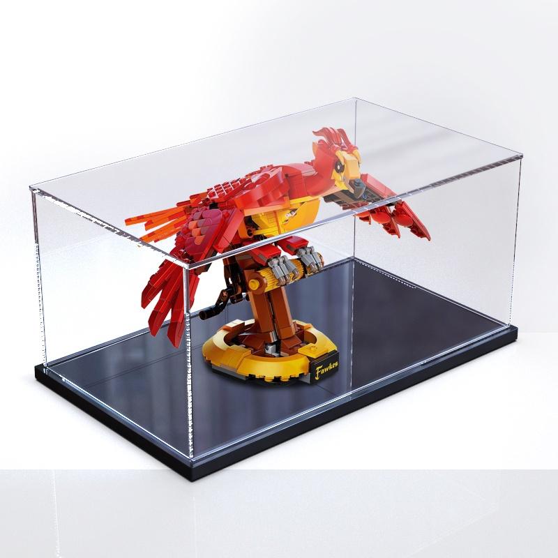 ▽☋ஐ亞克力展示盒適用樂高76394鄧布利多的鳳凰福克斯積木透明防塵罩
