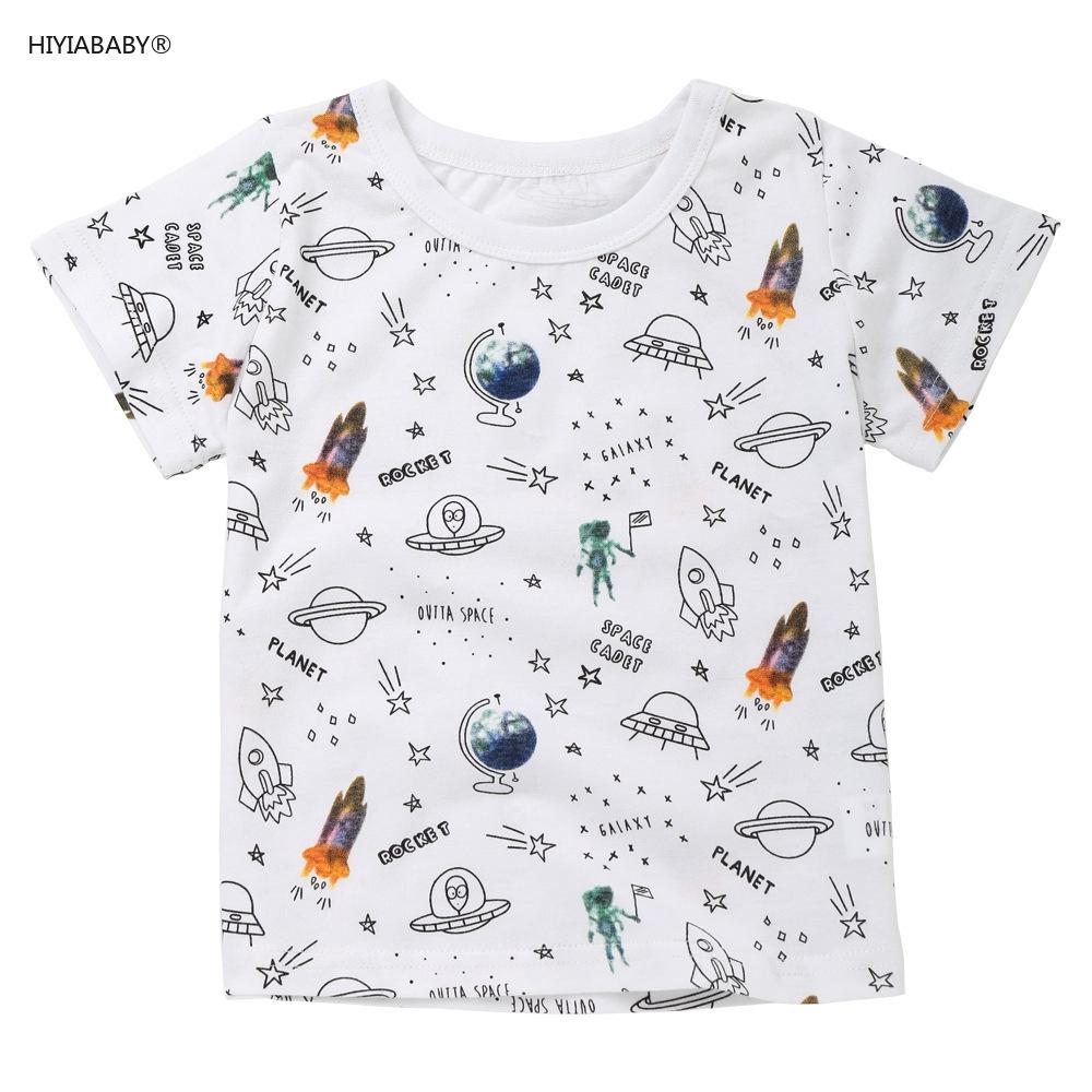 韓版夏季新款歐美卡通印花圖案 兒童短袖t恤純棉童裝