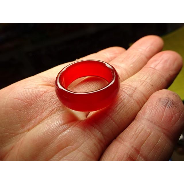 《藍金寶石玉石批發區》→〈戒指系列〉→天然冰種清透紅玉髓戒指→B418