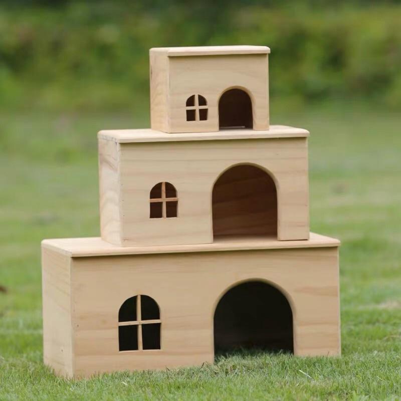 售完為止-寵物無底木屋(天竺鼠窩倉鼠窩兔子窩蜜袋鼯窩)