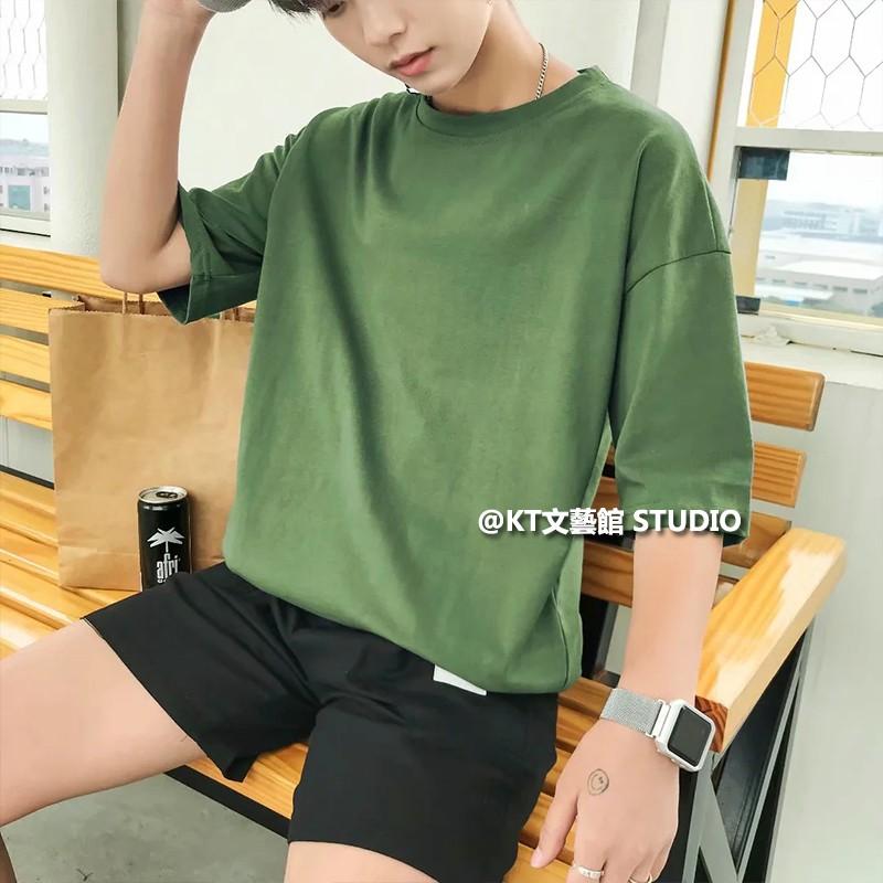 10色入 Tee M-2XL 素T 素面 簡單寬鬆短袖T恤 男式 百搭打底 內搭T恤 男生衣著 快適 涼爽 夏日打底衫