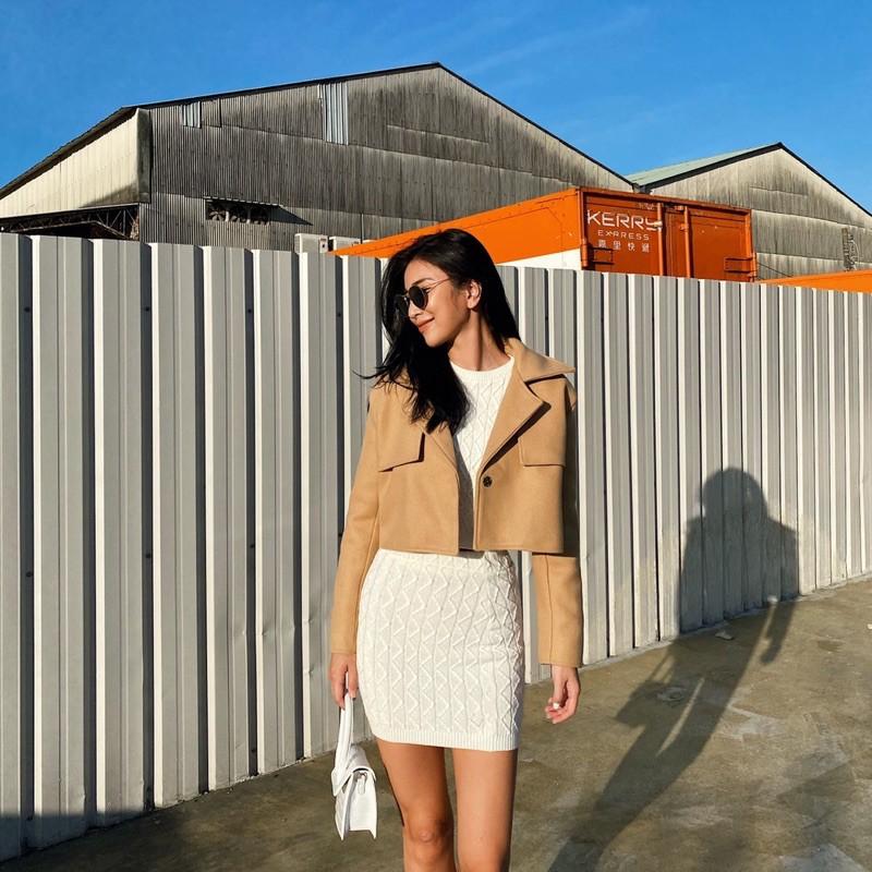 歐膩的外套-奶茶色短版外套