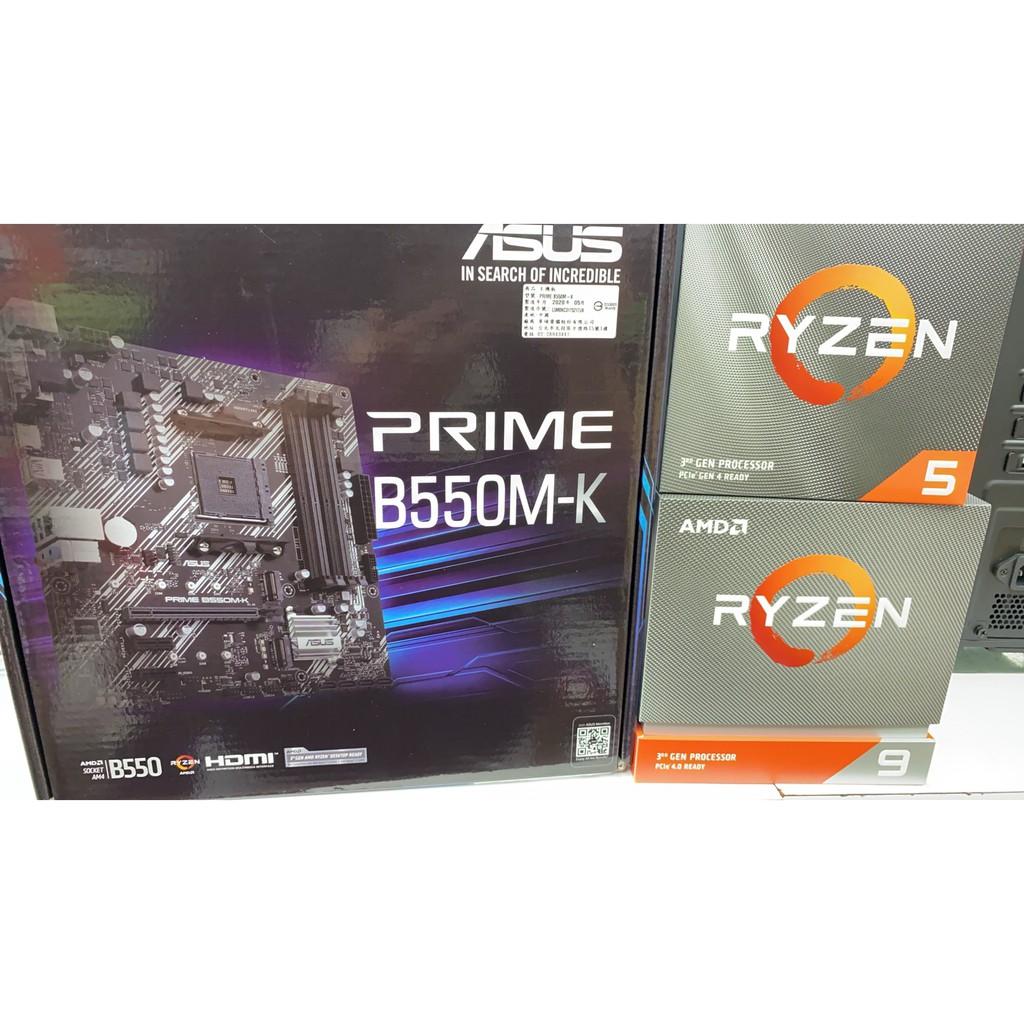 全新 華碩 Prime B550M-K 搭 AMD R5 3600 6核12緒 另有 3300X