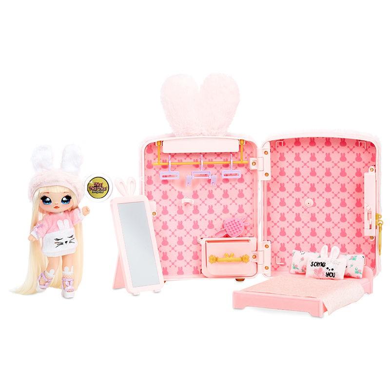 【佳佰酷】nanana新款驚喜娜娜娜毛絨背包套裝精致可動美發布娃娃女孩玩具包