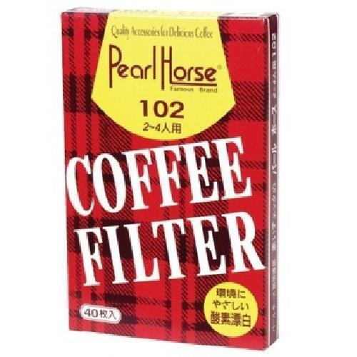 Pearl Horse 咖啡濾紙2-4人份(40張/包)[大買家]