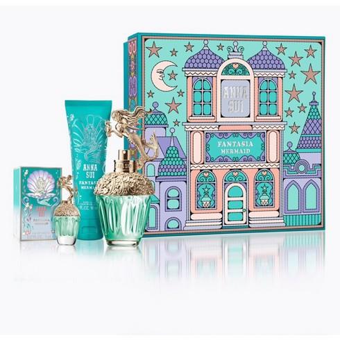 波妮香水♥ Anna Sui 童話美人魚 城堡假期禮盒 (50ml+5ml+身體乳90ml)