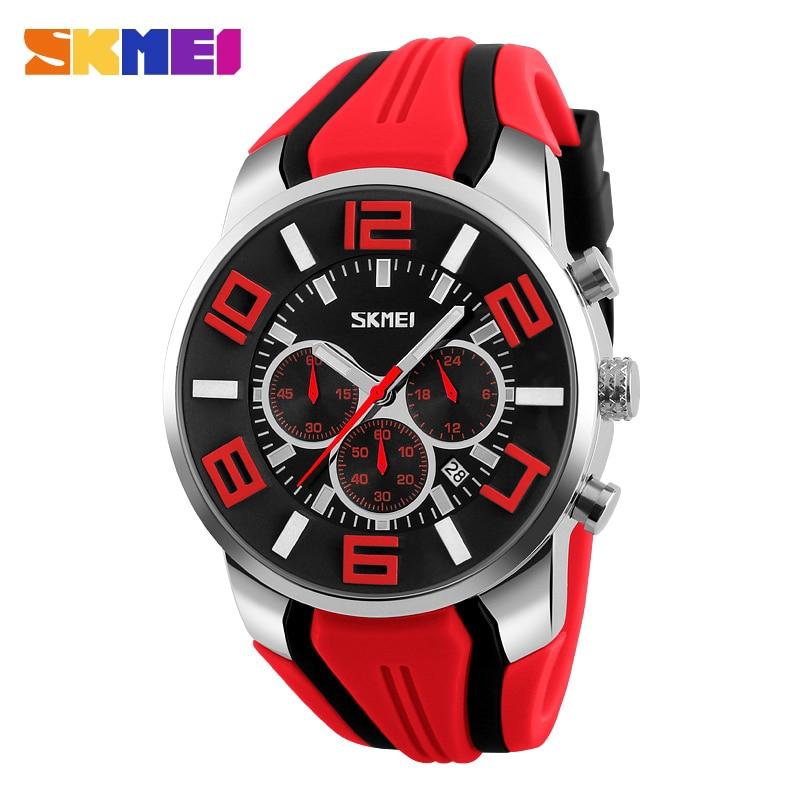 男士石英模擬運動手錶男士休閒秒錶頂級防水手錶