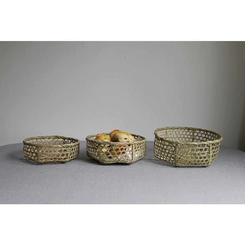 小藏獒·收納 樸房 質樸手工製鏤空竹筐面包籃水果收納籃 廚房道具 竹籃