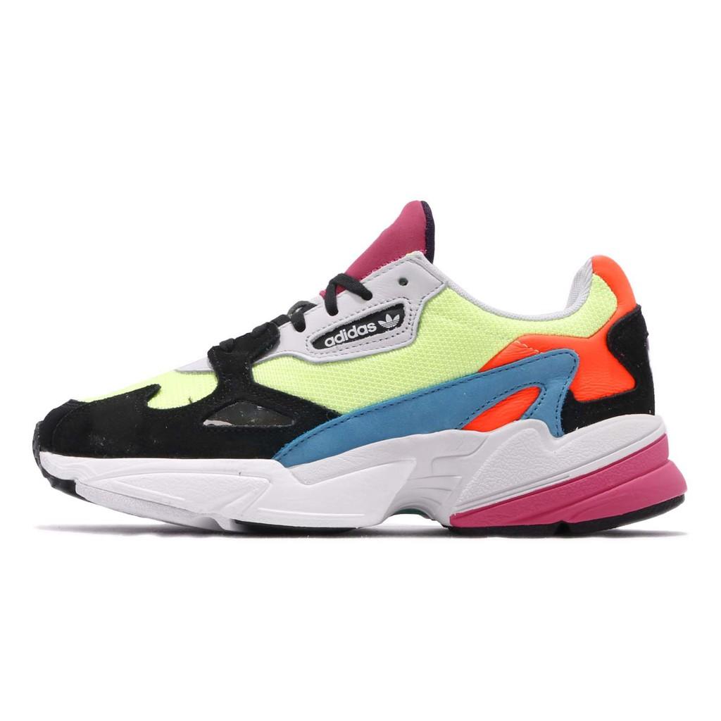 adidas 老爹鞋 Falcon W 黃 藍 橘 彩色 女鞋 運動鞋 CG6210【ACS】