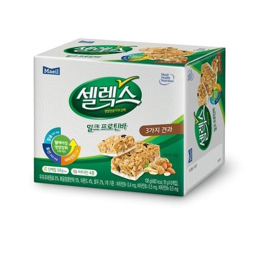 [韓國直送][MAEIL] 牛奶能量棒 (堅果口味) 6入