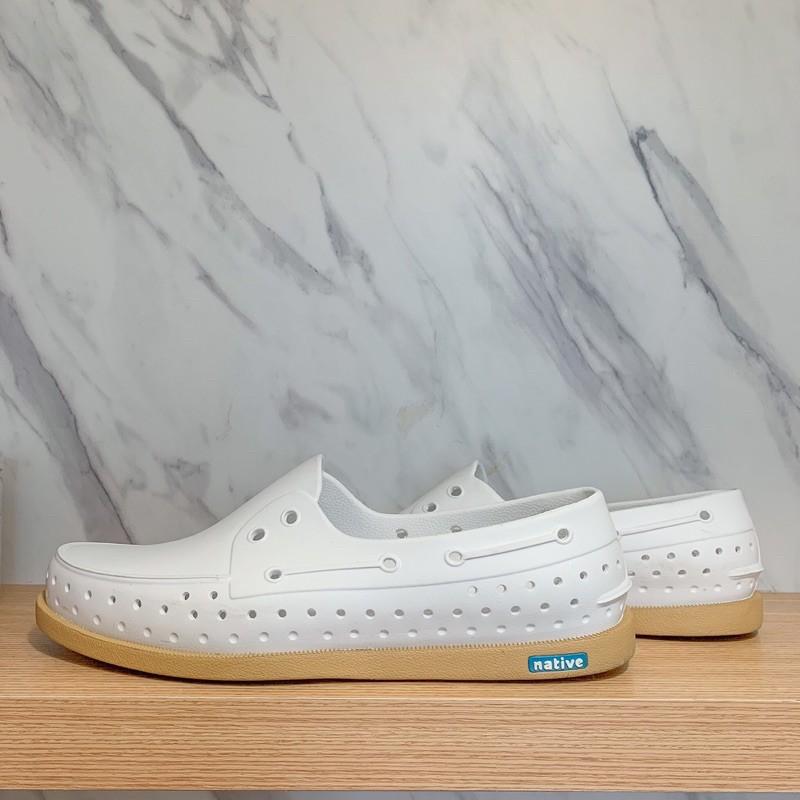 Native Howard 男鞋 貝殼白x焦糖底 M10=28