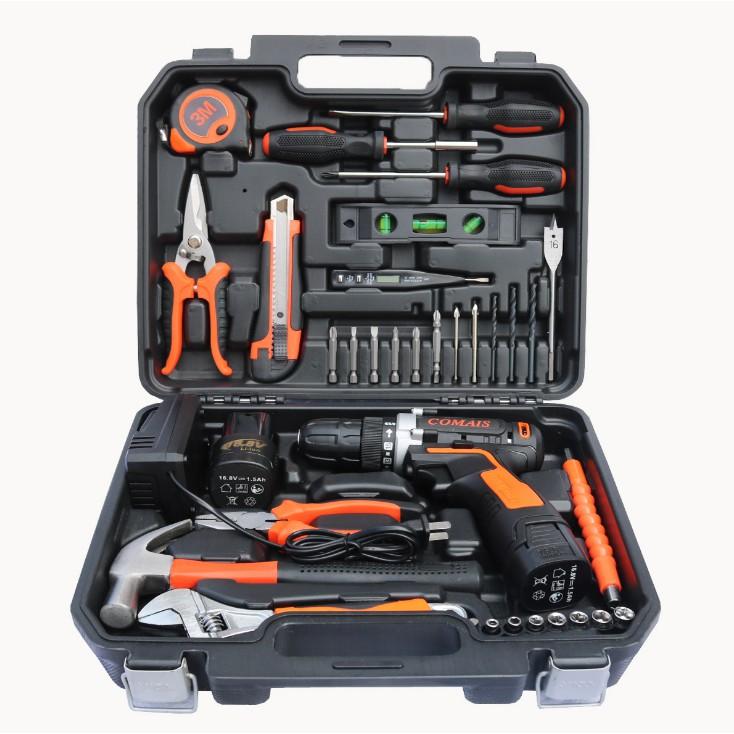35件套大禮包 鋰電池充電式手電鉆組套組合工具電動螺絲刀五金工具