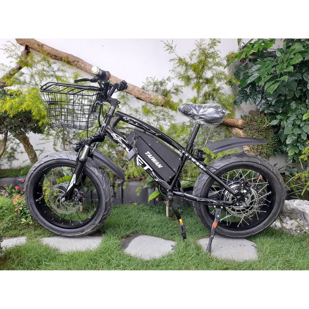 """""""花豹抽取式"""" 1黑 2白 單速500瓦12AH鋰電 電動腳踏車 電瓶車 顆粒胎 胖胎 JET ebike電動自行車"""
