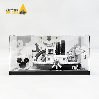 【樂高燈】LEGO樂高21317威力號 展示盒 拼裝奇龍亞克力 led帶燈透明 防塵罩