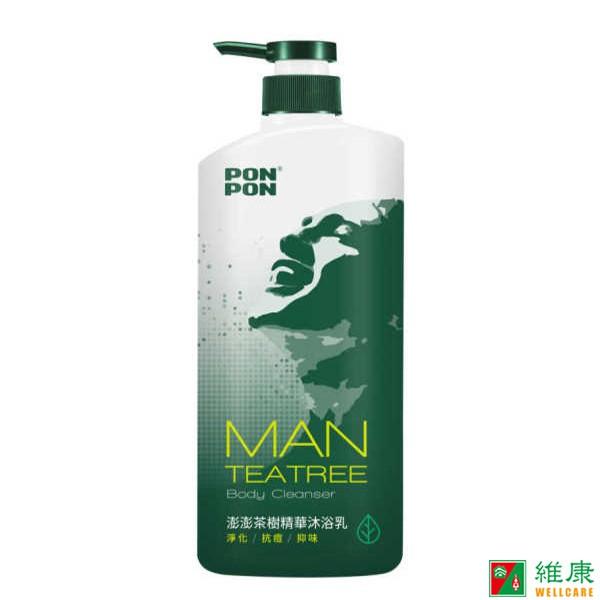 澎澎 MAN男性沐浴乳 茶樹精油 850g/瓶 維康 限時促銷 (沐浴霜 沐浴精)