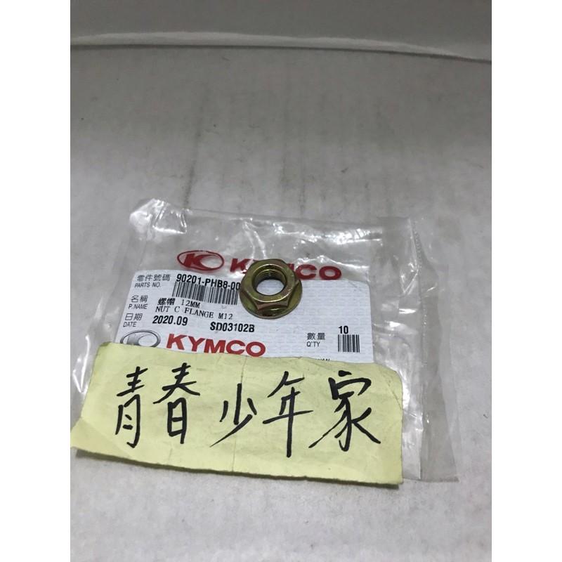《青春少年家》KYMCO 光陽 原廠PHB8 魅力110 VJR110 MANY-125 後普利心螺帽 螺母 碗公外螺帽