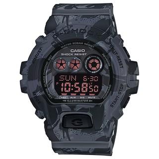 【金台鐘錶】CASIO 卡西歐 G-SHOCK 叢林迷彩 帥氣黑 防水200米 10年電力 GD-X6900MC-1 臺北市