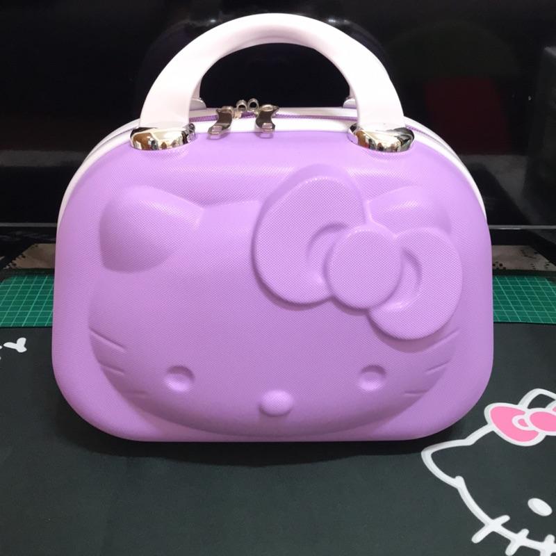 14吋立體紫色化妝箱 隨身 行李箱 小旅行箱 Hello Kitty 3D 手提 立體