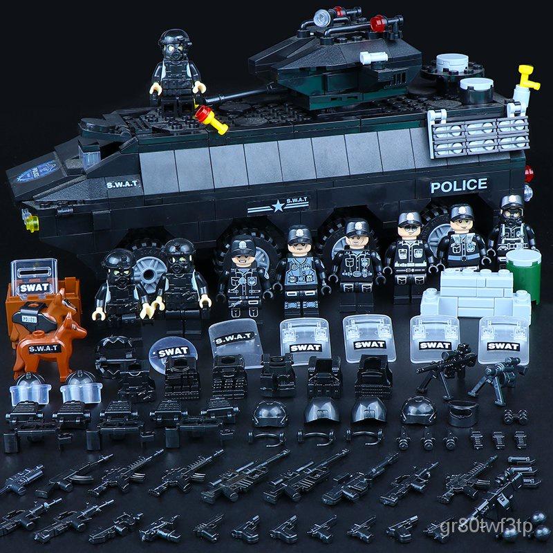 ❤特價⭐軍事城市警察局車系列樂高拼裝積木直升機飛機益智玩具車人仔 tOC5