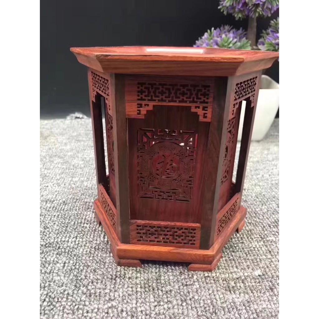 【becs】紅木高檔六角筆筒木雕創意實木紅酸枝毛筆筆筒木質復古工藝品擺件