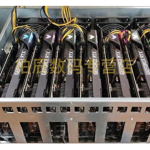 現貨礦機8卡RTX3060全速專用挖礦主機直插準系統平臺多顯卡礦以太臺式機箱