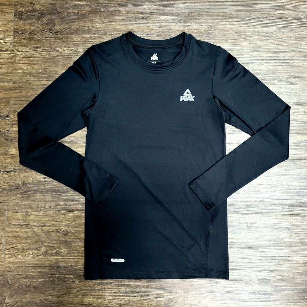 PEAK 專業運動機能緊身長袖T恤 黑 亮禹體育PEAK經銷商