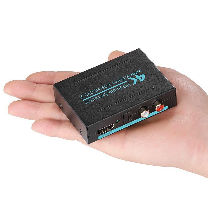 ✨在台現貨⚡️⚡️❥HDMI音頻分離器4K高清轉光纖rca雙蓮花spdif音頻解碼器PS45機頂盒&699免運