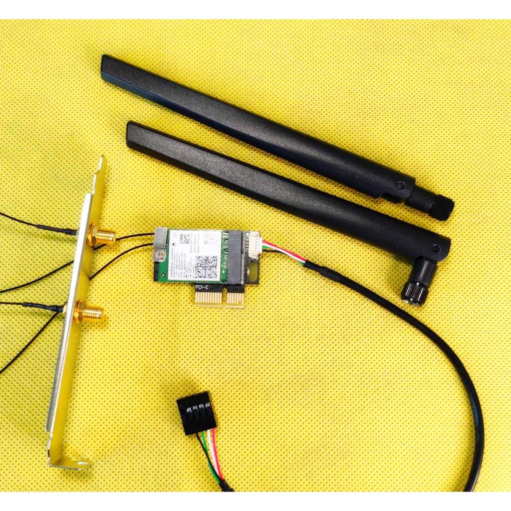 特價促銷 Intel AX200 AX210 Wi-Fi 6 6E桌上型電腦無線網路卡 藍牙5.1 5.2