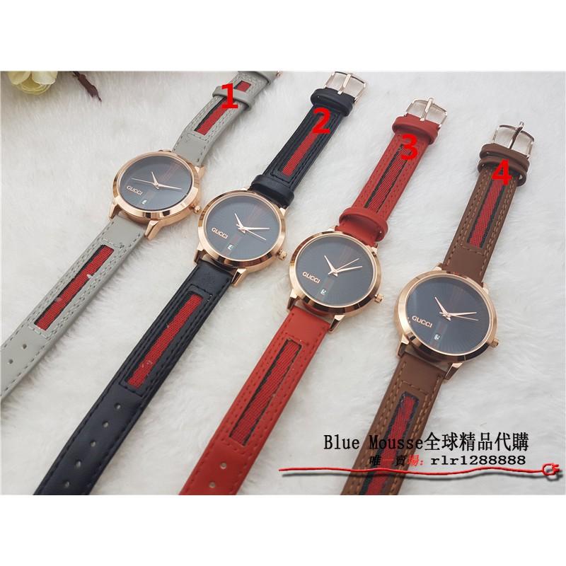 GUCCI手錶 男女款 時尚石英手錶 防水手錶 男錶 女錶 情侶對錶