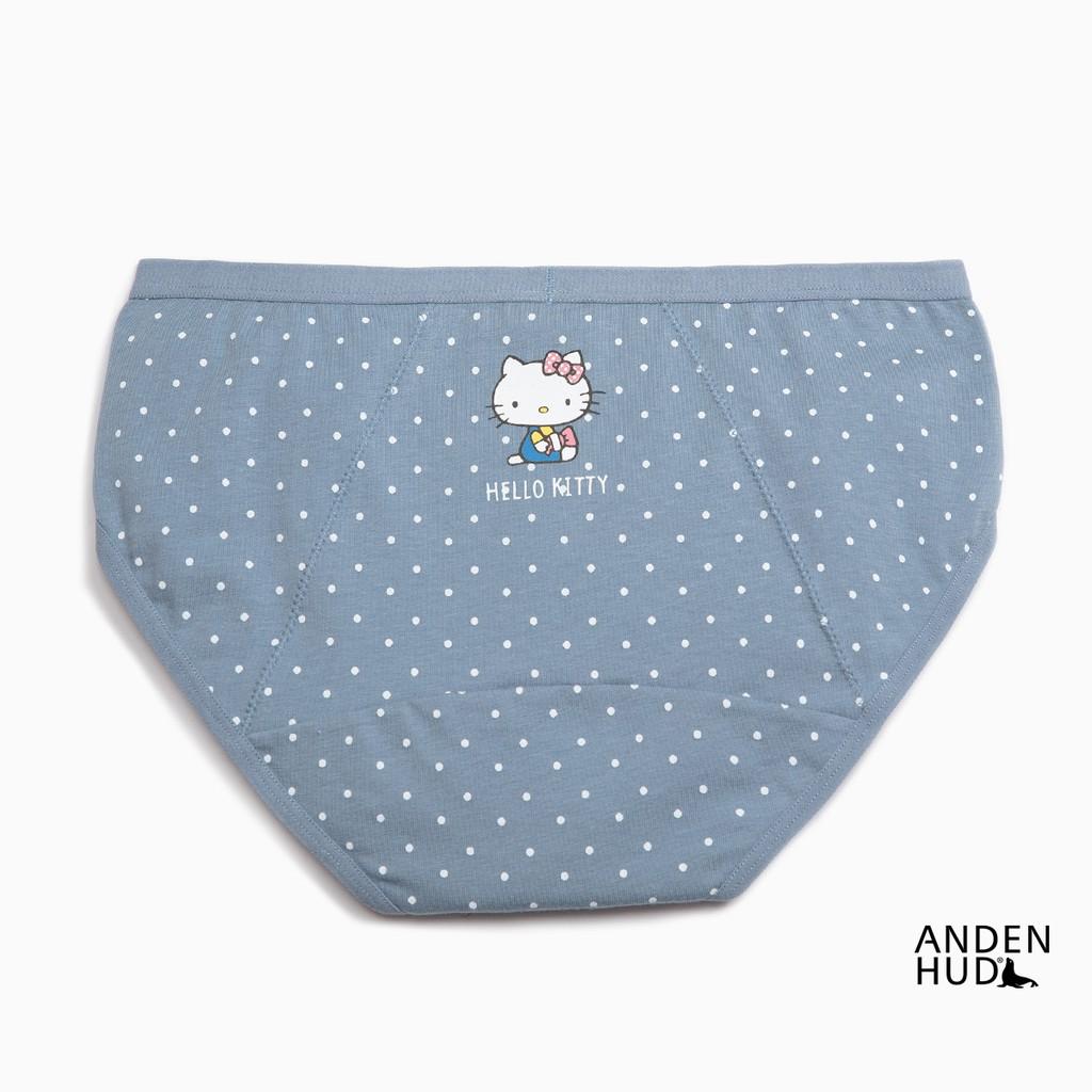 【Anden Hud】Hello Kitty懷舊系列.低腰生理褲(藍點點-糖果) 台灣製