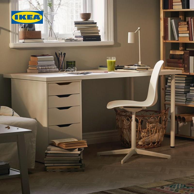 IKEA宜家LINNMON利蒙ALEX阿來斯桌子簡約書桌寫字桌電腦桌1.2米