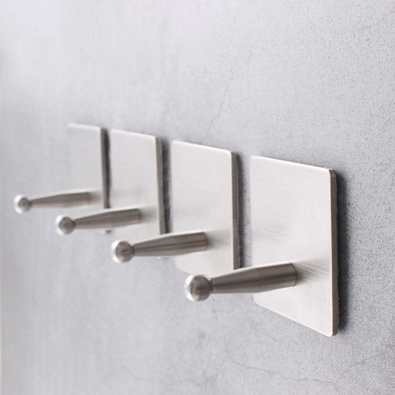 KUKU KUKU 304不銹鋼自粘掛鉤架裝飾壁粘式存儲毛巾長袍廚房
