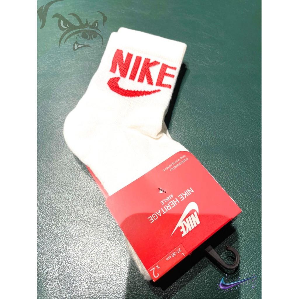 瘋狗現貨不用等NIKE HERITAGE ANKLE 復古 中筒 運動襪 兩雙一組 紅藍 SK0204-902